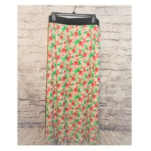 NWT LulaRoe LUCY Long Floral lined Maxi Skirt